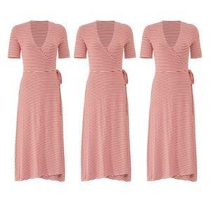 Striped Wrap-Dress by 525 America